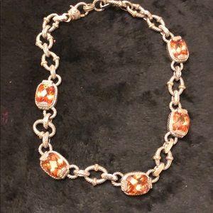 Citrine stones necklace